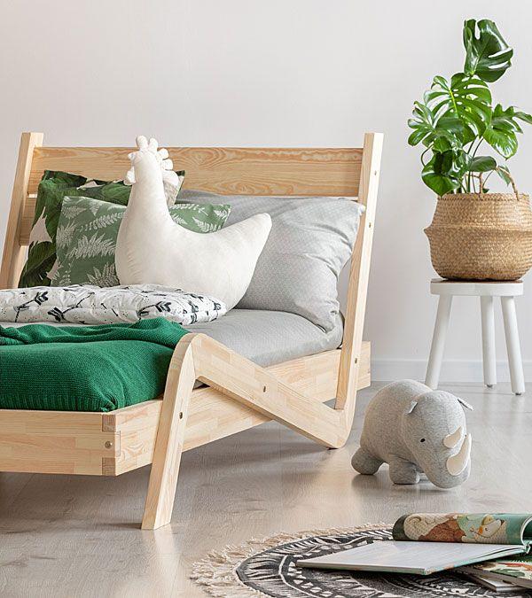 Drewniane łóżko dziecięce Miko 3X