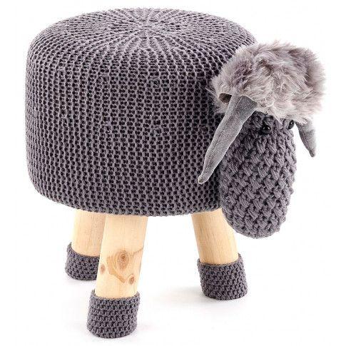 Zdjęcie produktu Drewniana pufa dziecięca Stili 2X - baranek.