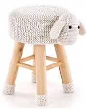 Okrągła pufa dziecięca Stili 3X - owieczka
