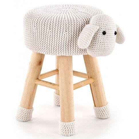 Zdjęcie produktu Okrągła pufa dziecięca Stili 3X - owieczka.