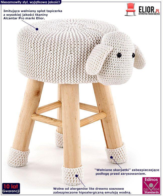 Pufa dla dzieci w kształcie owieczki Stili 3X
