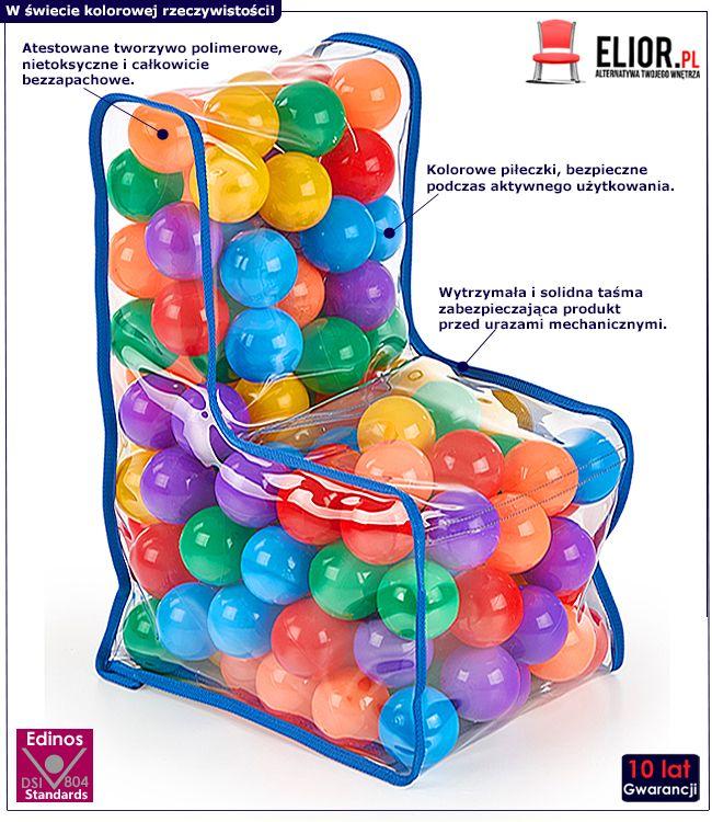 Fotelik dla dzieci z piłeczkami Fuppi 6X