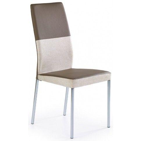 Zdjęcie produktu Krzesło tapicerowane Angel - brązowe.