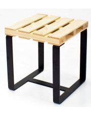 Drewniany taboret Baltica 4X - sosna