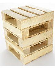 Drewniany stołek modułowy Baltica 5X - sosna