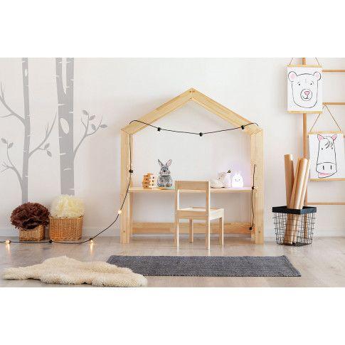 Zdjęcie produktu Drewniane biurko dziecięce domek Rosie 2X.