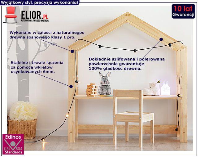 Drewniane biurko dziecięce w formie domku Rosie