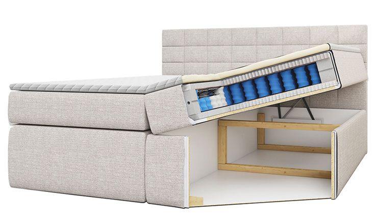 Kontynentalne łóżko Kyggo 120x200