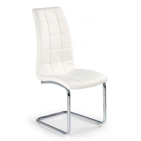 Zdjęcie produktu Stylowe krzesło pikowane Anthony - Biały.