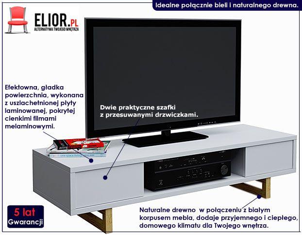 Skandynawska szafka RTV, LCD Inelo D3