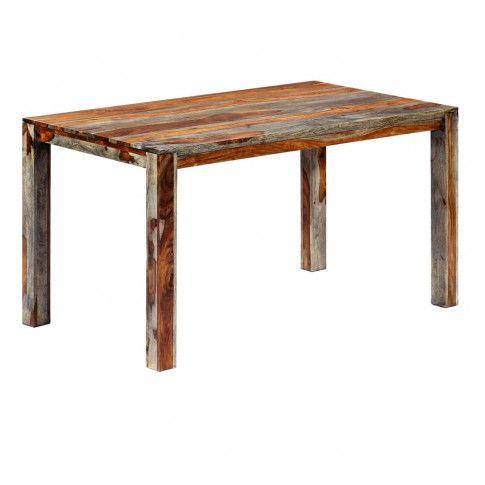 Zdjęcie produktu Stół z drewna sheesham Vidal 2X – szary .