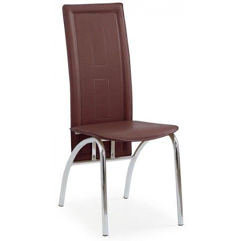 Zdjęcie produktu Krzesło tapicerowane Bayer - brązowe.