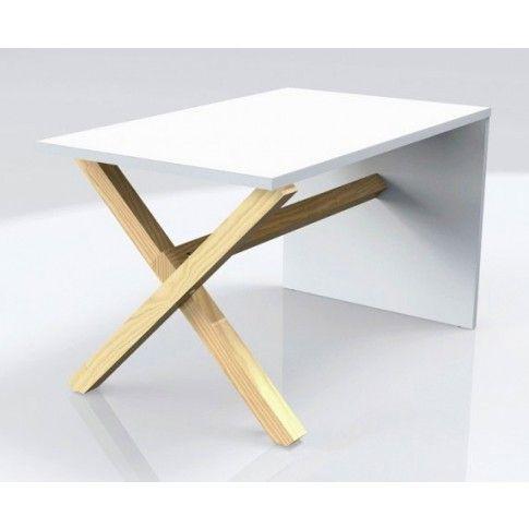 Zdjęcie produktu Skandynawski stolik kawowy Inelo L10 - biały blat.