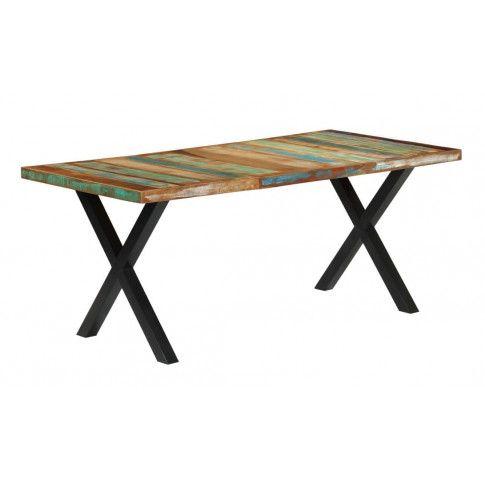 Zdjęcie produktu Stół z litego drewna Mirun – wielokolorowy .