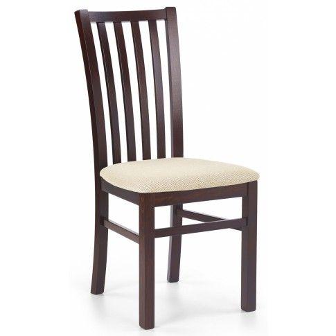 Zdjęcie produktu Drewniane krzesło Billy - ciemny orzech.