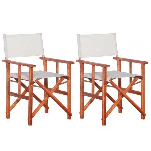 Zdjęcie produktu Komplet krzeseł reżyserskich Martin - biały.