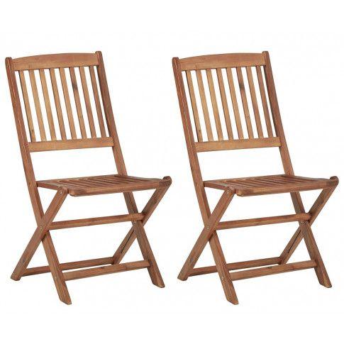 Krzesła ogrodowe akacjowe Mandy 2 szt.