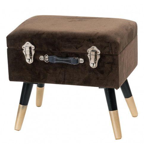 Zdjęcie produktu Elegancki taboret Harol - brązowy.