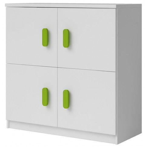 Zdjęcie produktu Biała komoda Florentino 2X - 9 kolorów uchwytów.