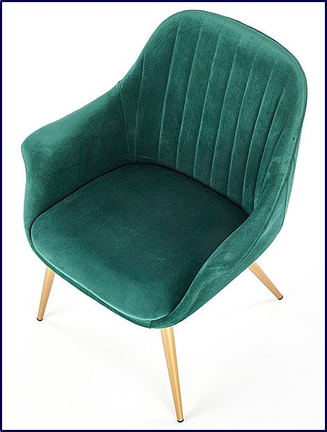 Zielony fotel do czytania, oglądania tv Karins 3X