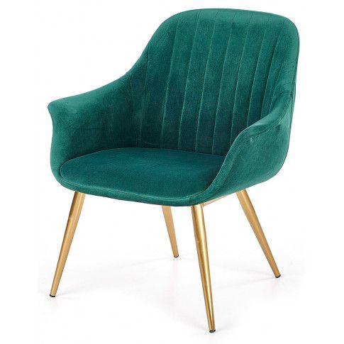 Zdjęcie produktu Fotel w stylu glamour Karins 3X - zielony.