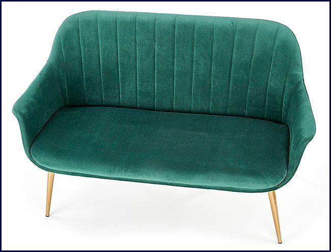 Podwójna szmaragdowa sofa wypoczynkowa Karins 4X
