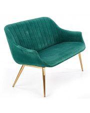 Dwuosobowa sofa w stylu glamour Karins 4X - zielona