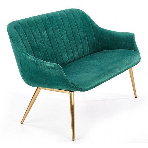 Zdjęcie produktu Dwuosobowa sofa w stylu glamour Karins 4X - zielona.