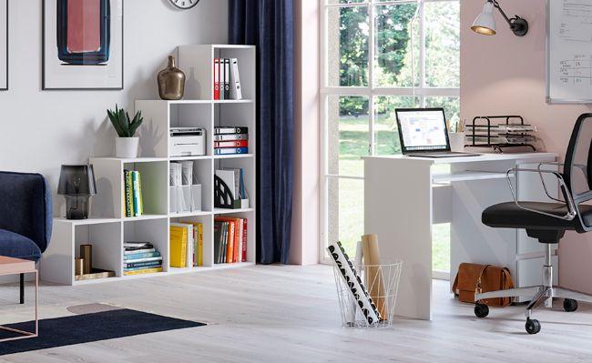 Stylowe biurko Aglo - białe