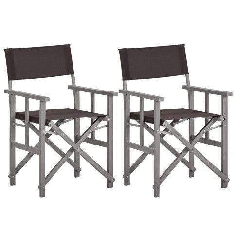 Zdjęcie produktu Komplet foteli reżyserskich Martin - czarne.