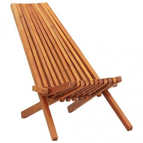 Zdjęcie produktu Drewniane krzesło ogrodowe Derek - brązowe.