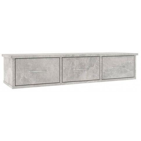 Zdjęcie produktu Półka ścienna z szufladami Toss 3X - szarość betonu.