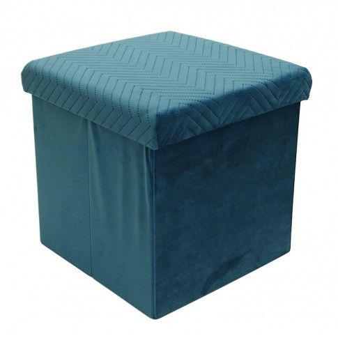 Zdjęcie produktu Otwierana pufa Zanno - niebieska.