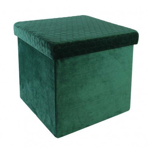 Zdjęcie produktu Otwierana pufa z pojemnikiem Zanno - zielona.