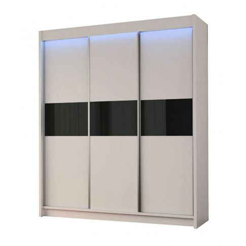Zdjęcie produktu Szafa przesuwna Lea 3X- biała lacobel.