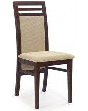Krzesło drewniane Clark - ciemny orzech