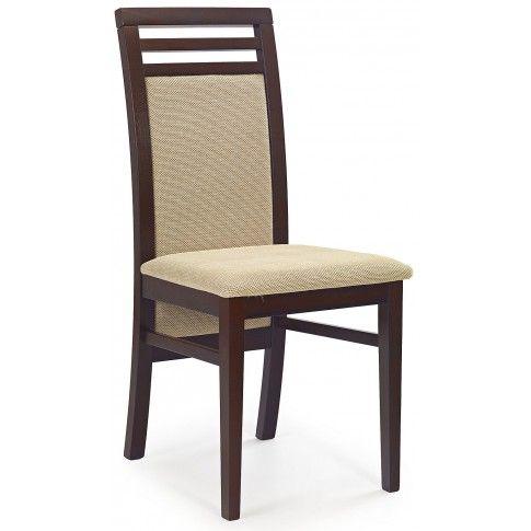 Zdjęcie produktu Krzesło drewniane Clark - ciemny orzech.