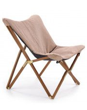 Wypoczynkowy fotel składany Kasan - beżowy