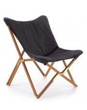 Wypoczynkowy fotel składany Kasan - ciemny popiel