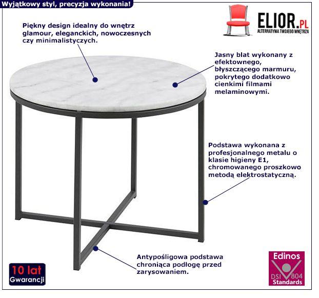 Elegancki stolik Anado - marmur