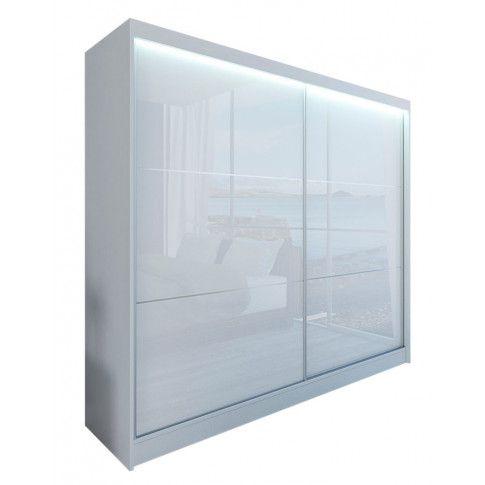Zdjęcie produktu Szafa przesuwna Greta 4X - biała lacobel.