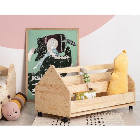 Zdjęcie produktu Drewniana skrzynia na zabawki Zozo 2S.