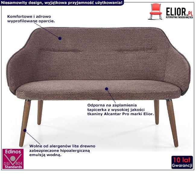 Dwuosobowa sofa tapicerowana szara Livar 3X