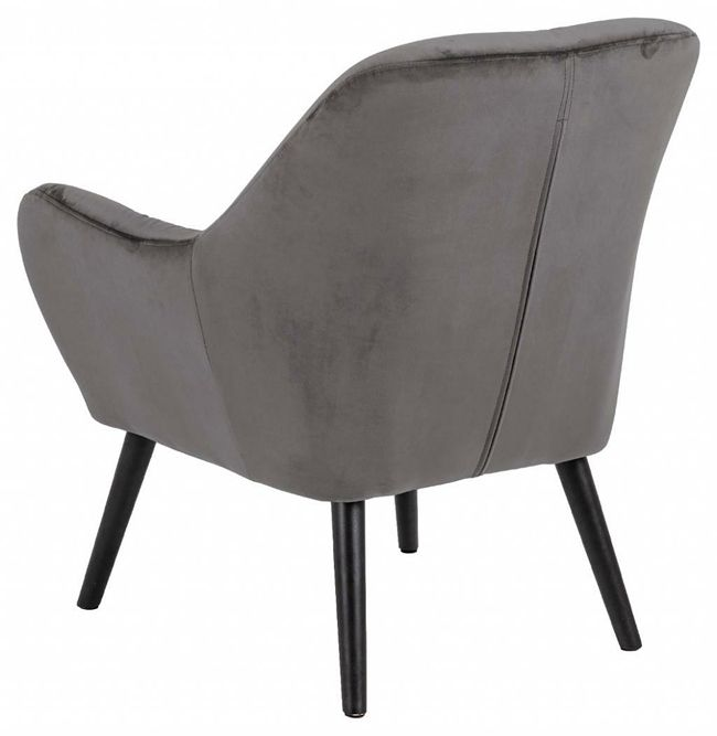 Designerski fotel Murio - welurowy