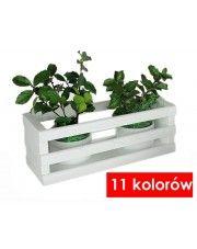 Drewniana skrzynka na kwiaty Liptos - 11 kolorów w sklepie Edinos.pl
