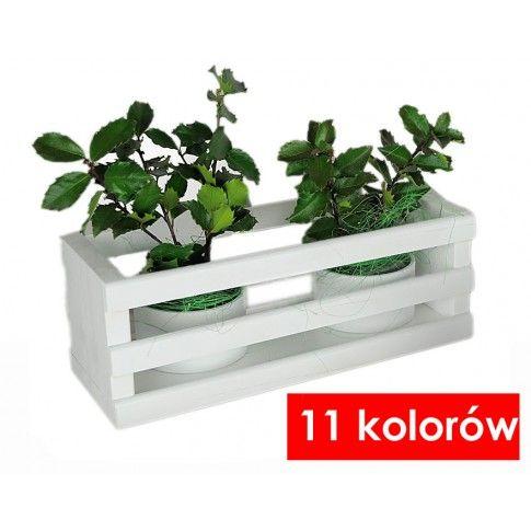 Zdjęcie produktu Drewniana skrzynka na kwiaty Liptos - 11 kolorów.