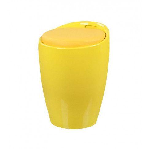 Zdjęcie produktu Pufa ze schowkiem Samba - żółta.