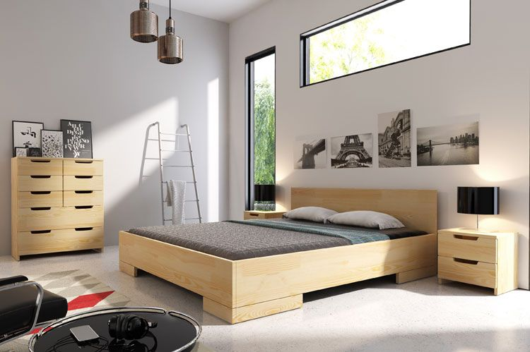 Łóżko w stylu skandynawskim Laurell 4S