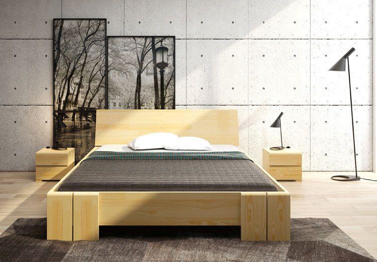 Wysokie łóżko skandynawskie z zagłówkiem Verlos 4X