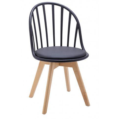 Zdjęcie produktu Krzesło patyczak w stylu retro modern Melba - czarne.